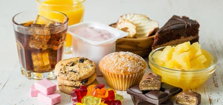 Image result for غذا های شیرین و اسیدی